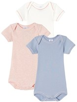 Petit Bateau Set of 3 baby girls bodysuits