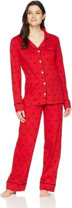 Hatley Little Blue House by Women's Long Sleeve Pajama Sets Pyjama