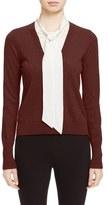 Veronica Beard 'Arrow' Tie Neck Cashmere Sweater