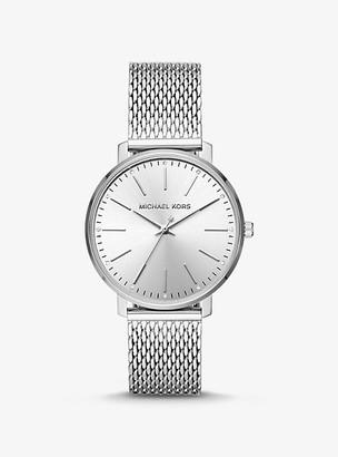 Michael Kors Pyper Silver-Tone Mesh Watch - Silver