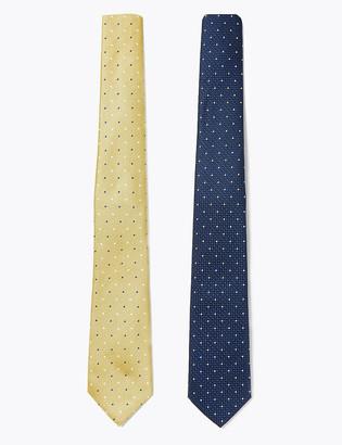 Marks and Spencer 2 Pack Slim Polka Dot Ties