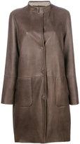 Manzoni 24 - panelled coat - women - Lamb Skin/Lamb Fur - 44