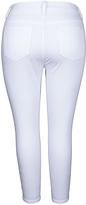 Melissa McCarthy White Rinse 'M' Pencil Jeans - Plus