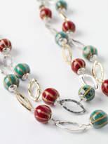 White Stuff Metal Ceramic Layered Necklace