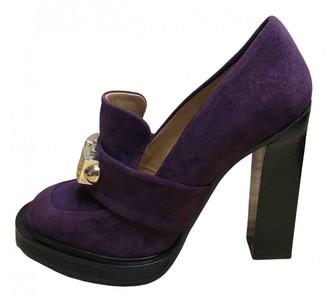 Carven Purple Suede Heels
