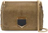 Jimmy Choo Gold Lizard Petite Lockett shoulder bag