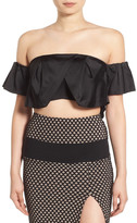 KENDALL + KYLIE Kendall & Kylie Ruffle Off the Shoulder Crop Top