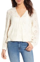 Hinge Women's Eyelet Surplice Top