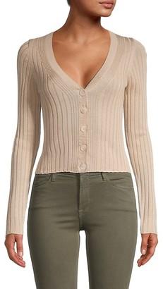 Naadam Cropped Silk Cashmere Cardigan