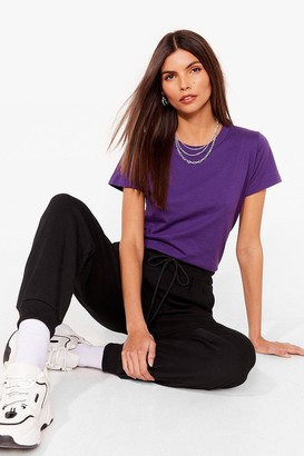 Nasty Gal Womens The Basic Facts Oversized Tee - Purple