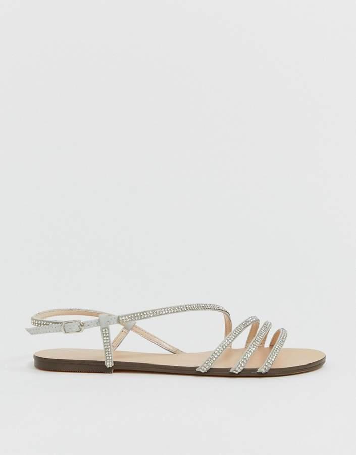 413ebf64eb0 Jetty diamante strappy flat sandals