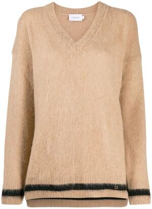 Calvin Klein V-neck knitted sweater
