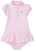 Polo Ralph Lauren Stretch Mesh Gingham Dress (0-24 Months)