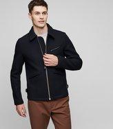 Reiss Clandeboyle - Twill Zip Jacket in Blue, Mens
