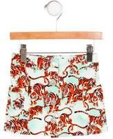 Kenzo Girls' Tiger Print Mini Skirt w/ Tags