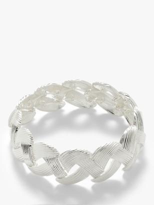 John Lewis & Partners Plait Stretch Bracelet, Silver