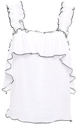 Antik Batik Gary Ruffled Cotton-gauze Top