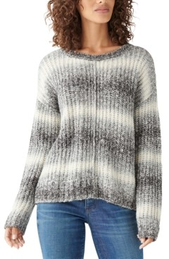Lucky Brand Relaxed Space-Dye Sweater