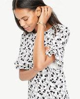 Ann Taylor Home Tops + Blouses Ginkgo Ruffle Sleeve Top Ginkgo Ruffle Sleeve Top