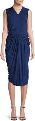 Jason Wu Collection Ruched Sleeveless Jersey Sheath Dress