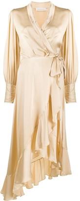 Zimmermann Wrap-Style Midi Dress