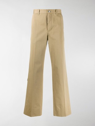 Burberry D-ring detail cotton trousers