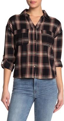 C&C California Plaid Button-Tab Sleeve Shirt