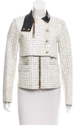 Alexander Wang Leather-Trimmed Coated Jacket