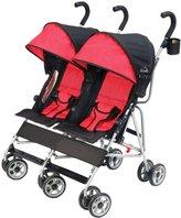 Kolcraft Cloud Double Umbrella Stroller - Scarlet - One Size