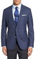 BOSS Men's 'Hutsons' Trim Fit Plaid Wool Sport Coat