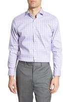Nordstrom Trim Fit Non-Iron Stretch Plaid Dress Shirt