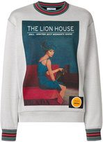 Prada poster girl print sweatshirt