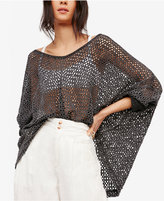Free People Napa Open-Knit One-Shoulder Sweater