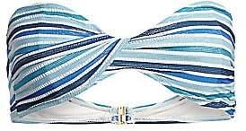 Jonathan Simkhai Women's Metallic Stripe Bandeau Bikini Top