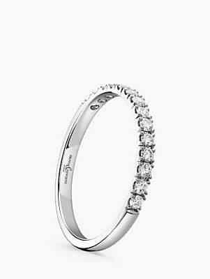 Brown & Newirth Platinum Diamond Half Eternity Ring, 0.28ct