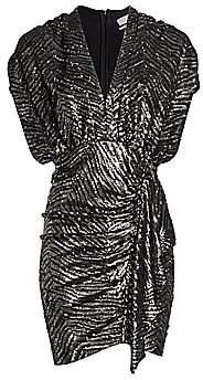 IRO Women's Sagria Zebra Sequin Dolman-Sleeve Mini Dress