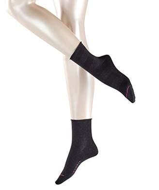 Esprit Women's Sparkling Diamond Ankle Socks, (Black 3000), ((Size: 39-42) (Pack of 2