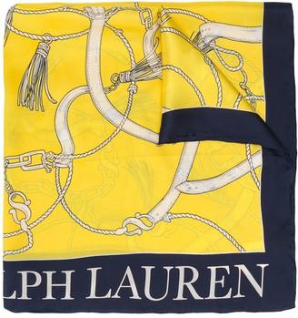 Lauren Ralph Lauren Rope Print Silk Scarf