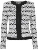 Balmain Sequin-embellished Metallic Tweed Jacket - Black