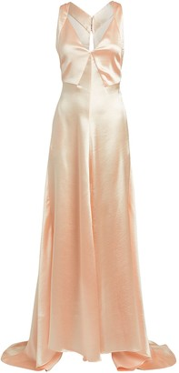 Philosophy di Lorenzo Serafini Hammered Satin Gown