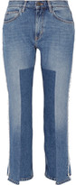 MiH Jeans Jeanne Cropped Frayed Straight-leg Jeans - Mid denim