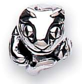 Jo for Girls Oxidises Silver Cat Bead