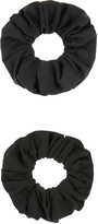Accessorize 2x Large Black Hair Scrunchie Pack
