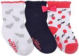 Robeez White & Red Cherry Three-Pair Sock Set