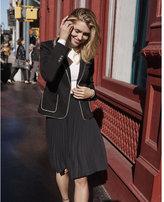Express High Waisted Pleated Midi Skirt