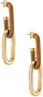 Soko Wood Capped Link Earrings