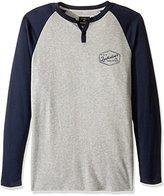 Quiksilver Men's Polar Waters Henley Baseball T-Shirt