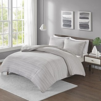 Melange Home Home Essence Apartment Space Dyed Cotton Jersey Knit Comforter Set