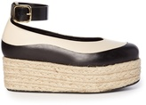 Marni Bi-colour leather flatform espadrilles
