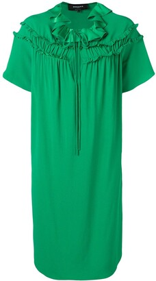 Rochas Ruffled Shift Dress